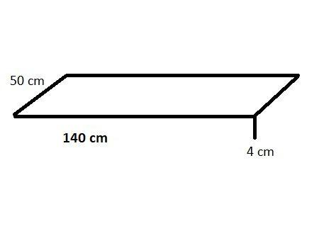 Gartenbank Sitzauflage 140 x 50 x 5 cm