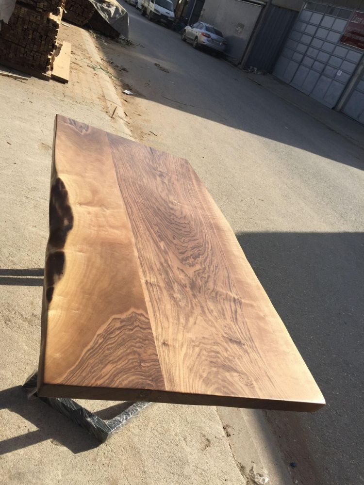 Nusstisch Platte 200x90 cm