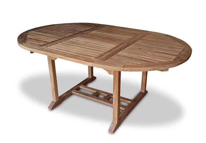 Oval, Massive Teak Tisch